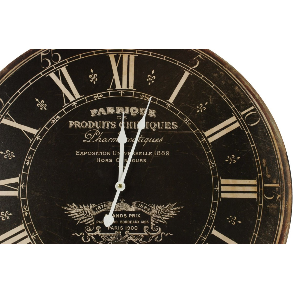 Horloge Ancienne Balancier Fabrique De Produits Chimiques 58cm