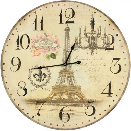 HORLOGE ANCIENNE MURALE PARIS 58cm