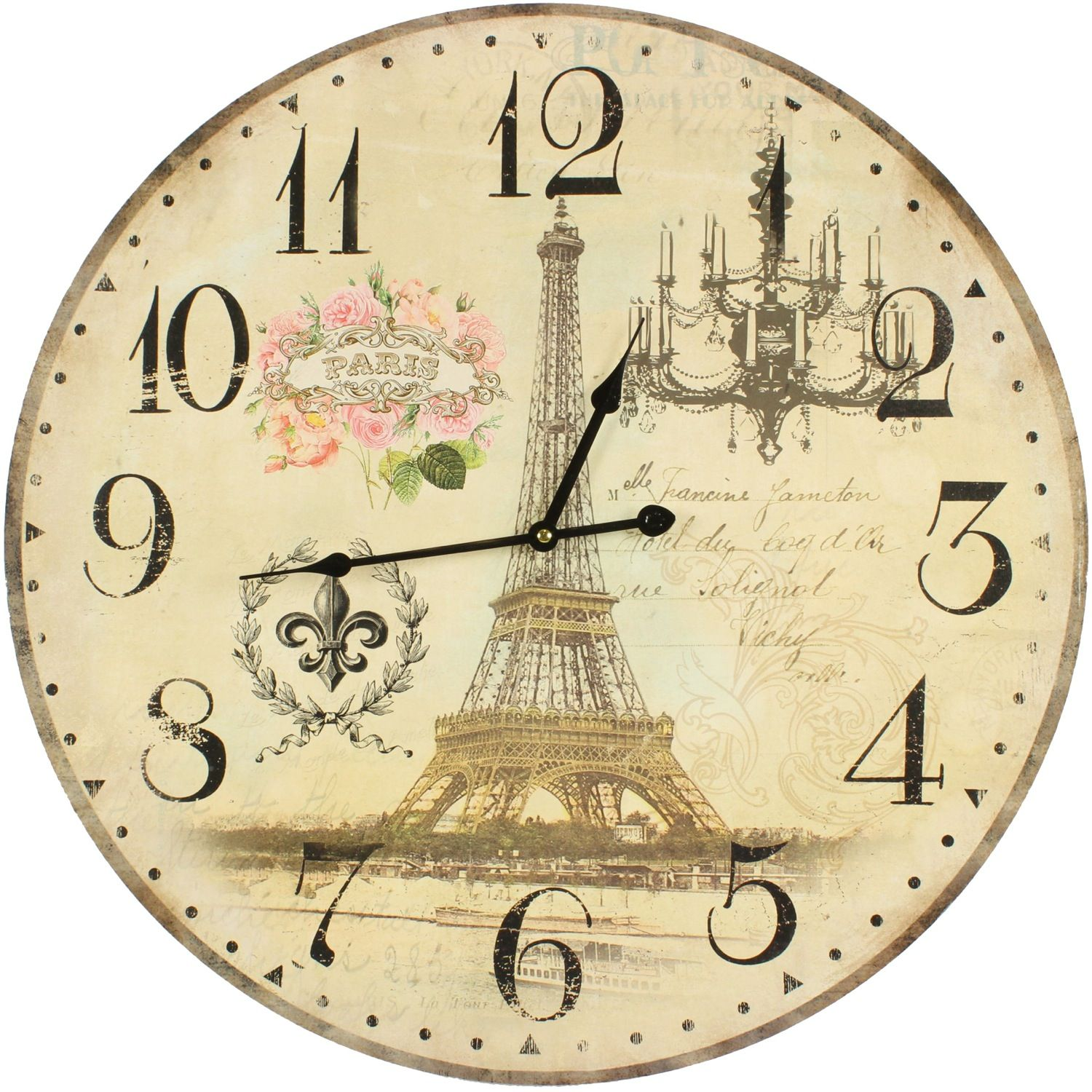 horloge ancienne murale paris 58cm. Black Bedroom Furniture Sets. Home Design Ideas