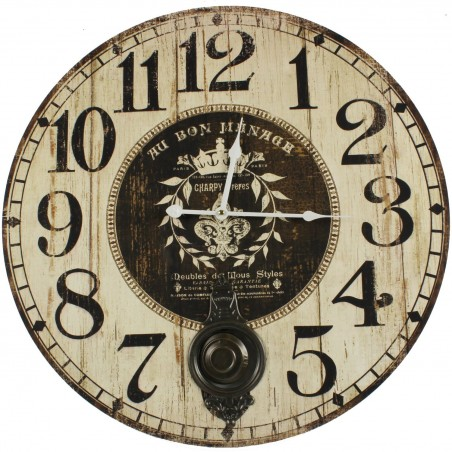 HORLOGE ANCIENNE BALANCIER AU BON MENAGE 58CM