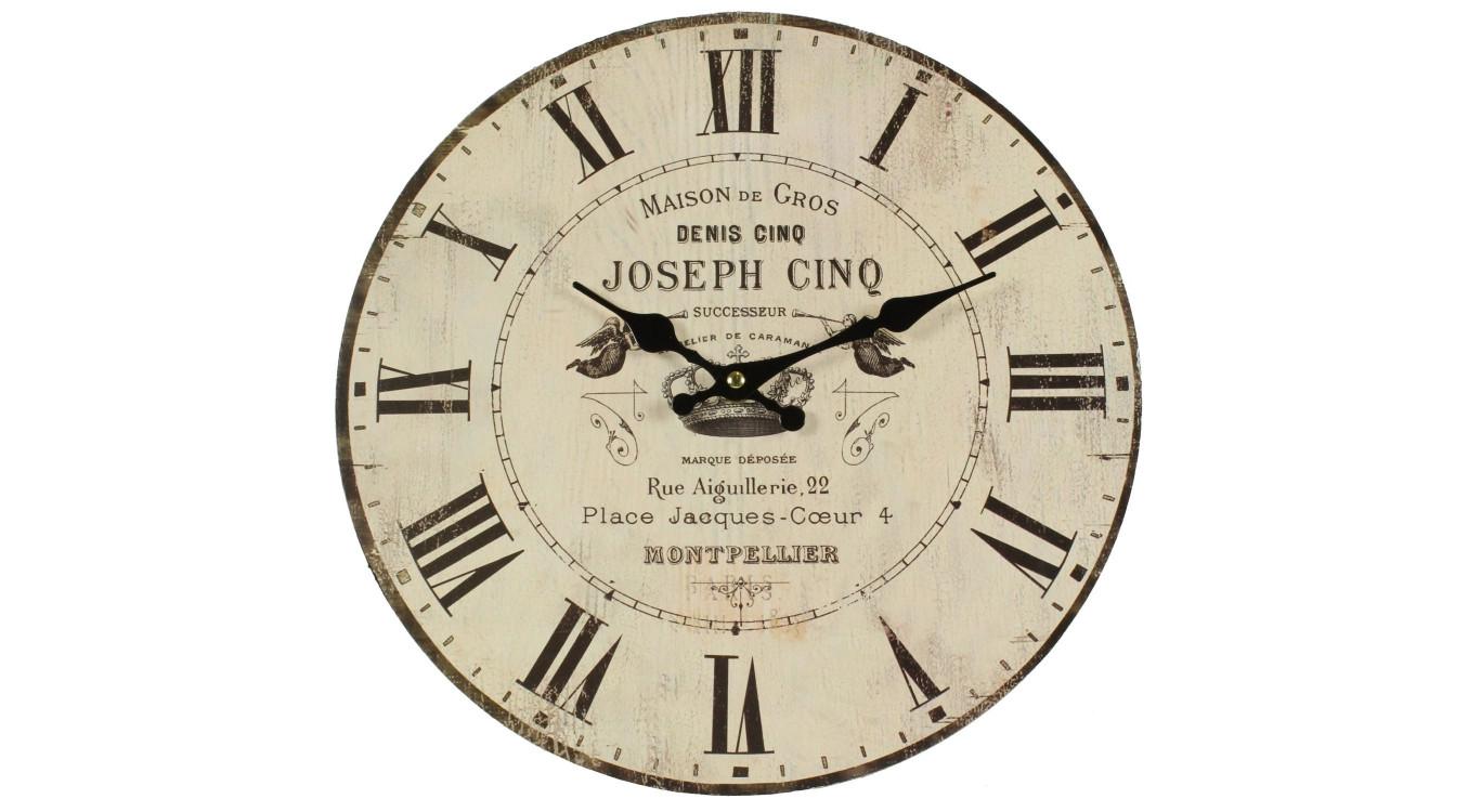 Horloge Ancienne Murale Maison De Gros 34cm