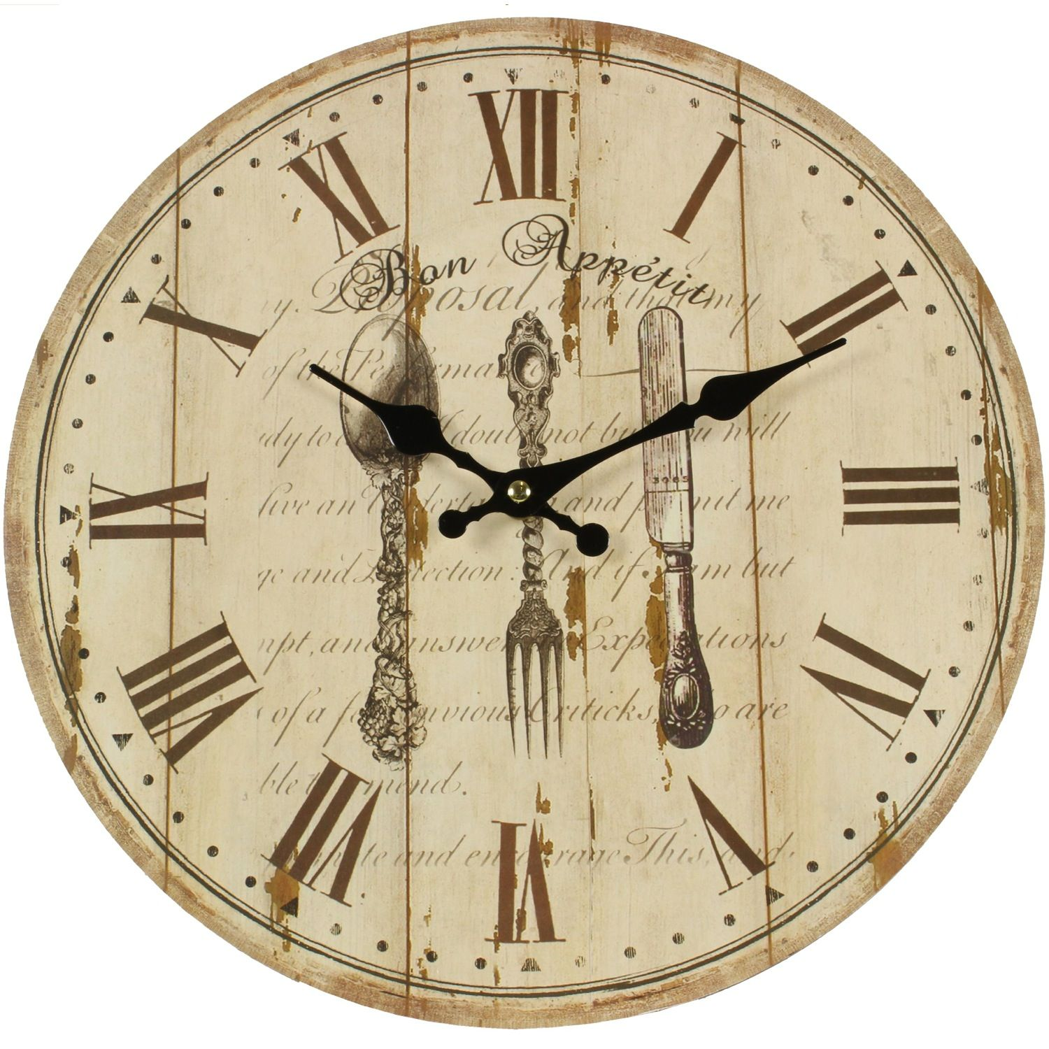 horloge ancienne murale bon appetit 34cm. Black Bedroom Furniture Sets. Home Design Ideas