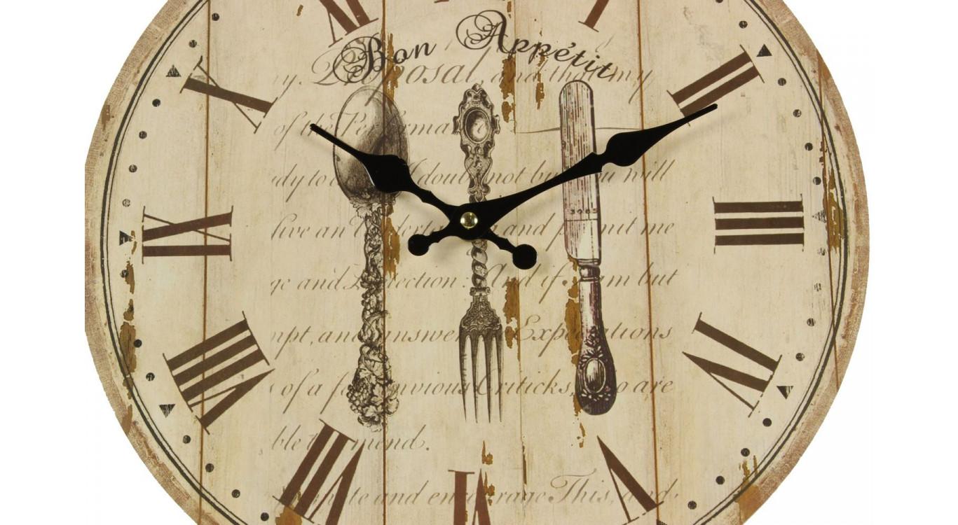 Horloge Ancienne Murale Bon Appétit 34cm