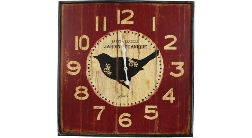 Horloge Ancienne Murale Carre Jardin Botanique 60cm
