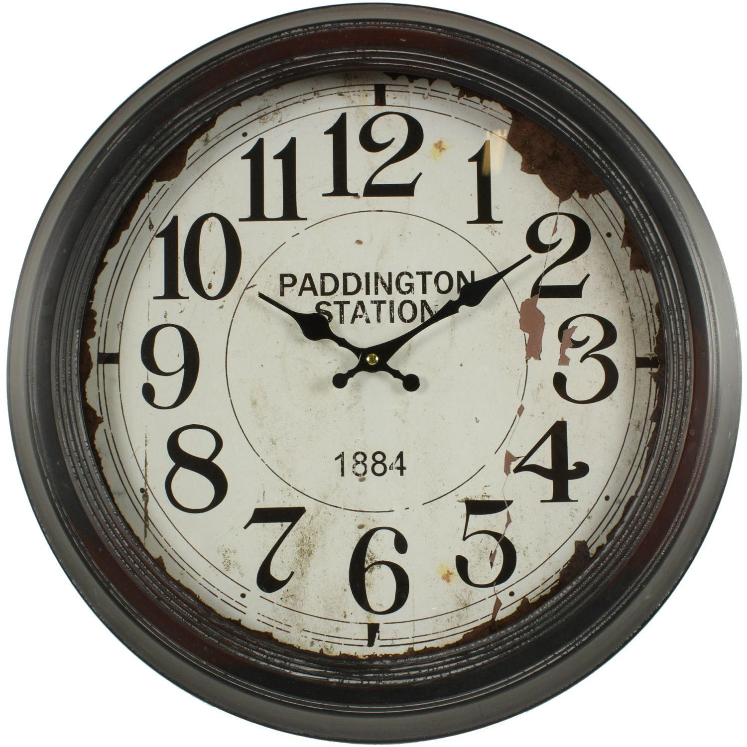 horloge ancienne murale paddington station 47cm. Black Bedroom Furniture Sets. Home Design Ideas