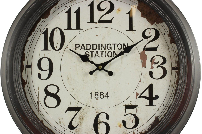 horloge ancienne murale paddington station 47cm. Black Bedroom Furniture Sets. Home Design Ideas
