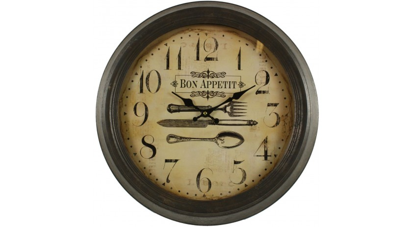 horloge ancienne murale bon appetit 47cm. Black Bedroom Furniture Sets. Home Design Ideas