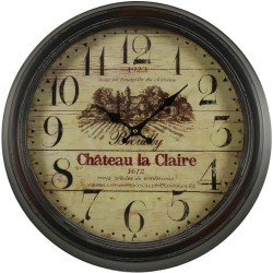 Horloge Ancienne Murale Brouilly Château La Claire 47cm