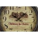 HORLOGE MURALE BROUILLY CHÂTEAU LA CLAIRE 47CM