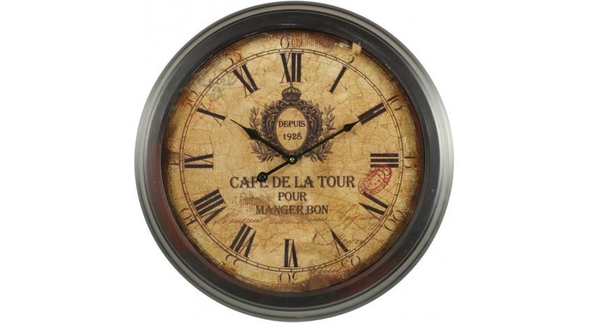 HORLOGE MURALE CAFE DE LA TOUR 58CM