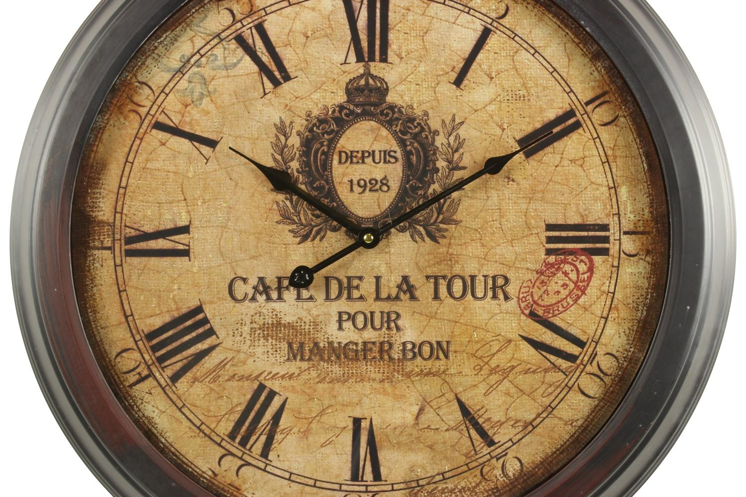 horloge ancienne murale cafe de la tour 58cm. Black Bedroom Furniture Sets. Home Design Ideas