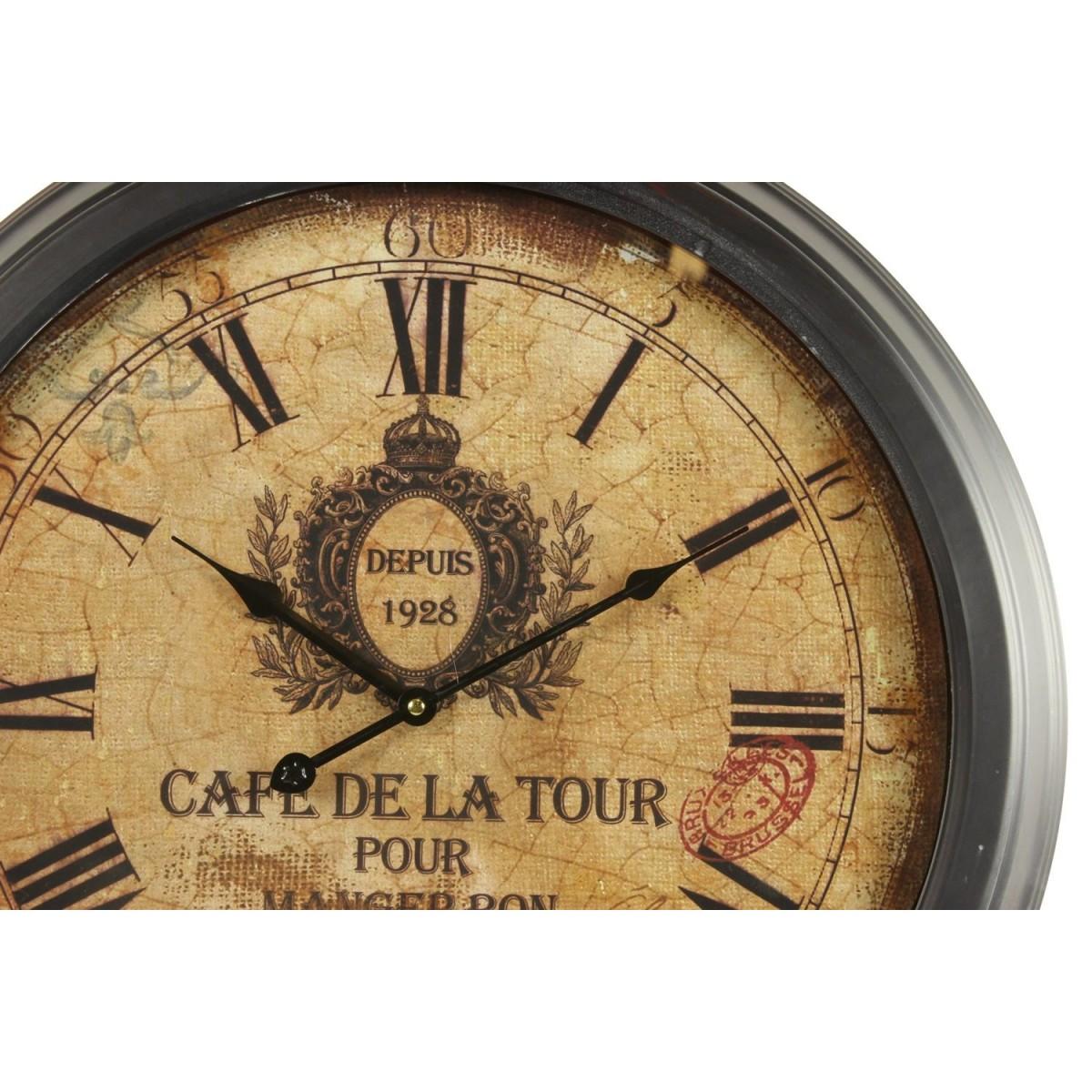 Horloge Ancienne Murale Café De La Tour 58cm