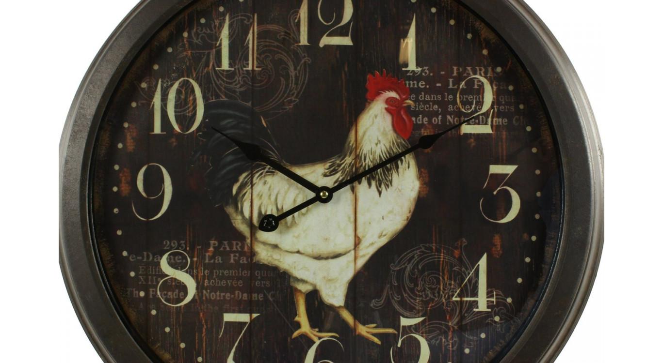 Horloge Ancienne Murale Coq 58cm