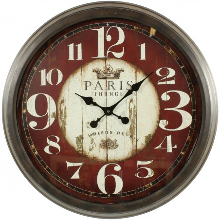 Grande Horloge Ancienne Murale Paris France 70cm