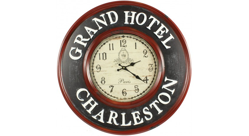 Horloge Ancienne Murale Grand Hôtel Charleston 59cm