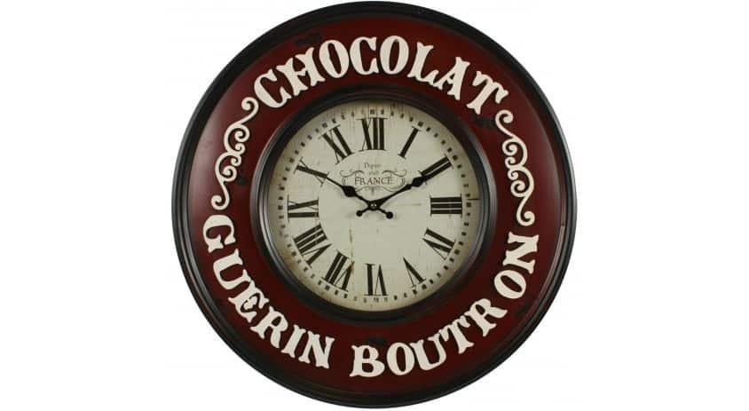 HORLOGE MURALE CHOCOLAT GUERIN-BOUTRON 59CM