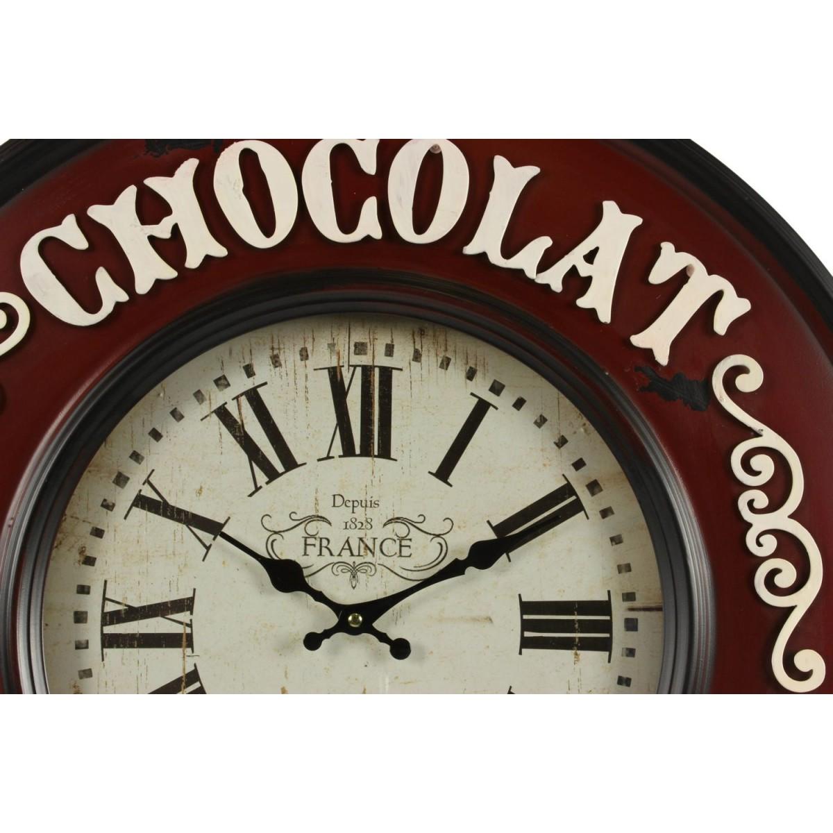 Horloge Ancienne Murale Chocolat Guerin-Boutron 59cm