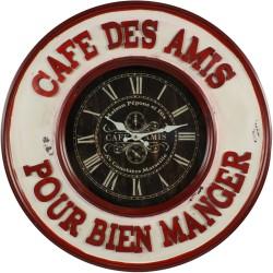 Horloge Ancienne Murale Café Des Amis Pour Bien Manger 59cm