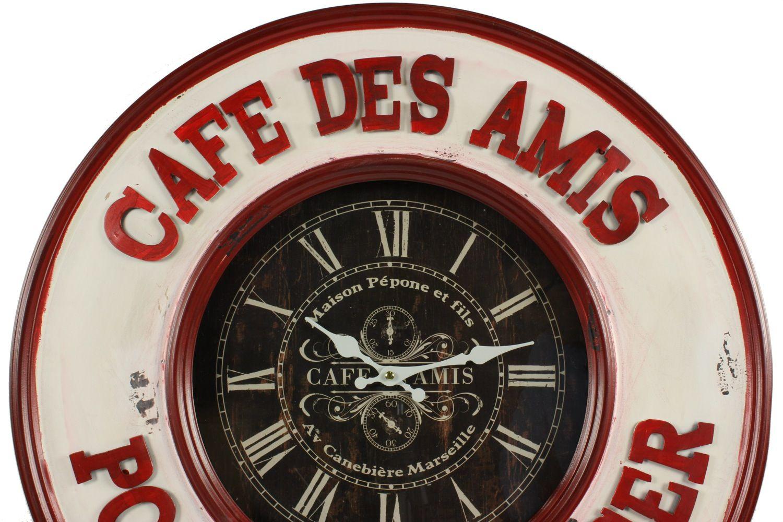 horloge ancienne murale caf des amis pour bien manger 59cm. Black Bedroom Furniture Sets. Home Design Ideas