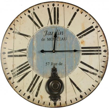 Horloge Ancienne Balancier Jardin De Monceau 58cm