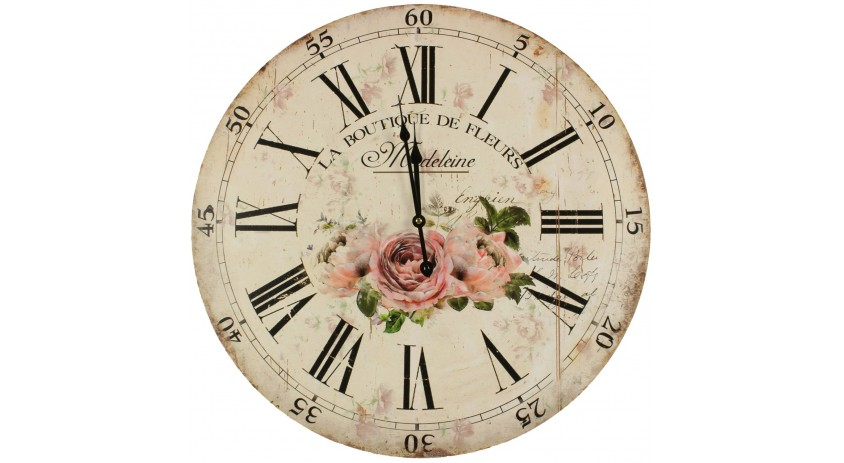 Horloge ancienne murale la boutique de fleurs 58cm - Horloge murale ancienne ...