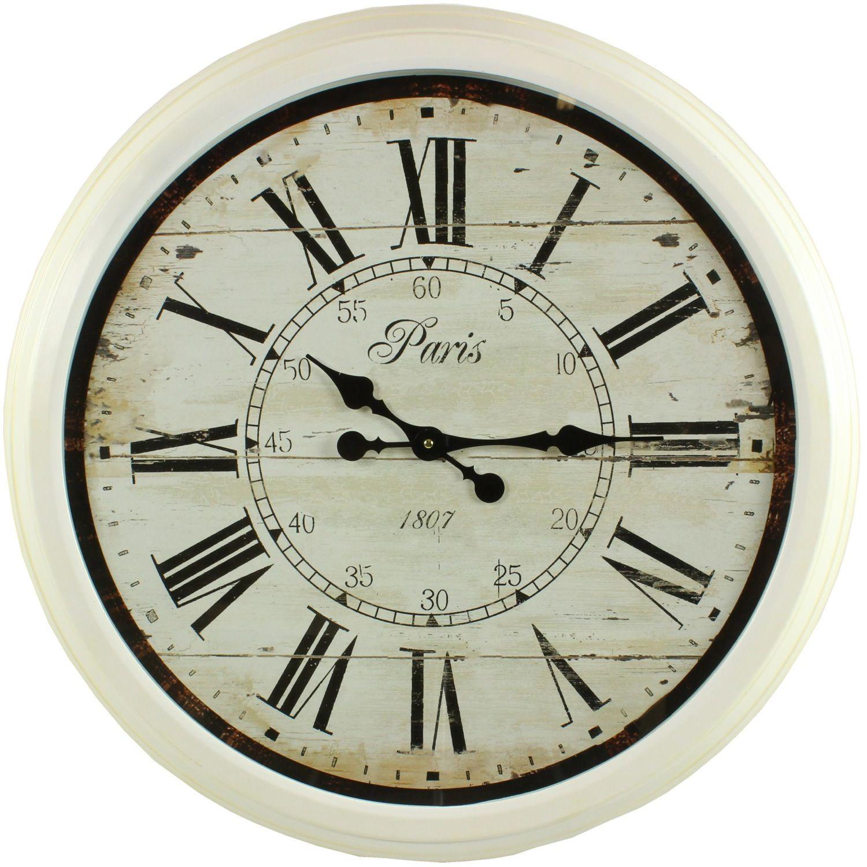 Grande horloge ancienne murale paris 1807 70cm for Grosse horloge blanche