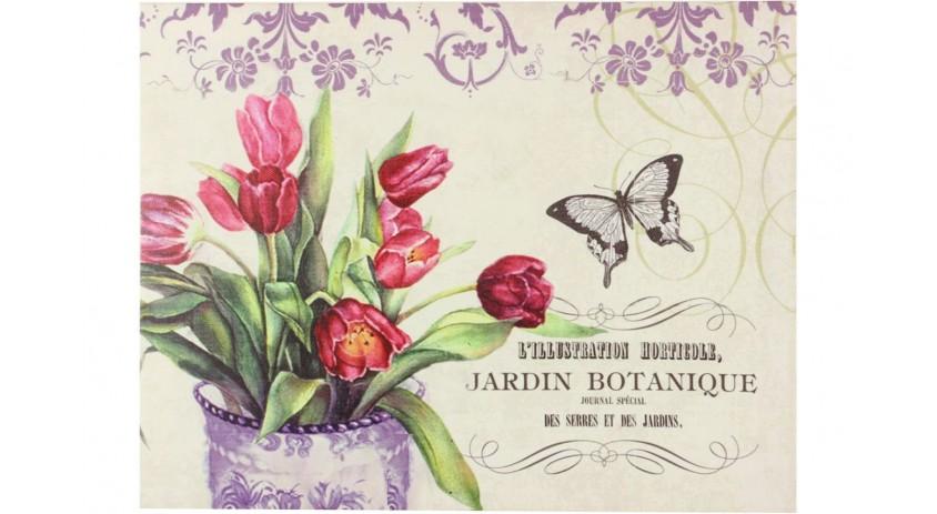 TABLEAU HORIZONTAL JARDIN BOTANIQUE DROITE 35X45CM