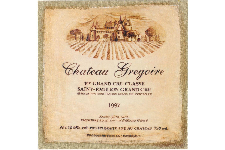 Tableau Sur Lin Carre Château Grégoire 38x38cm