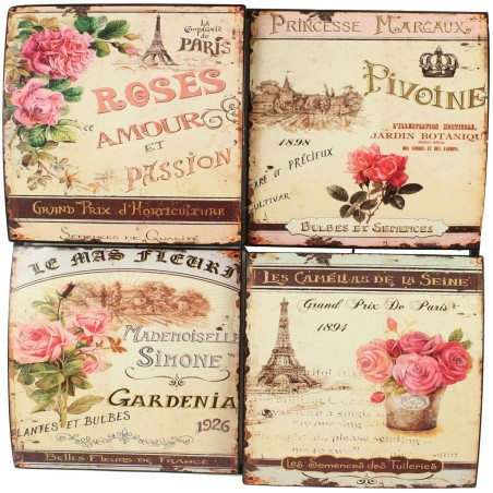 PLAQUE DECORATIVE PUBLICITE GRAND PRIX D'HORTICULTURE 40X40cm