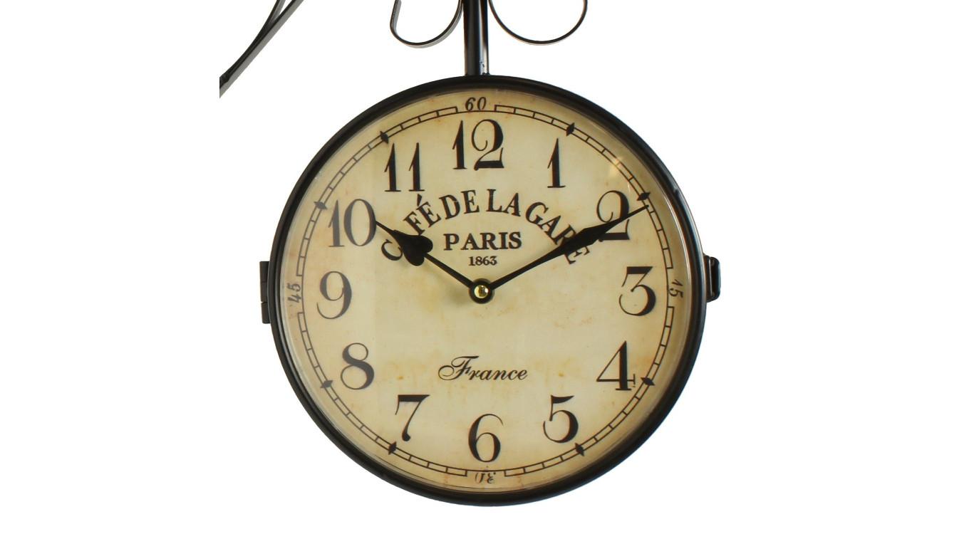 Horloge De Gare Ancienne Double Face Café De La Gare Paris 24cm