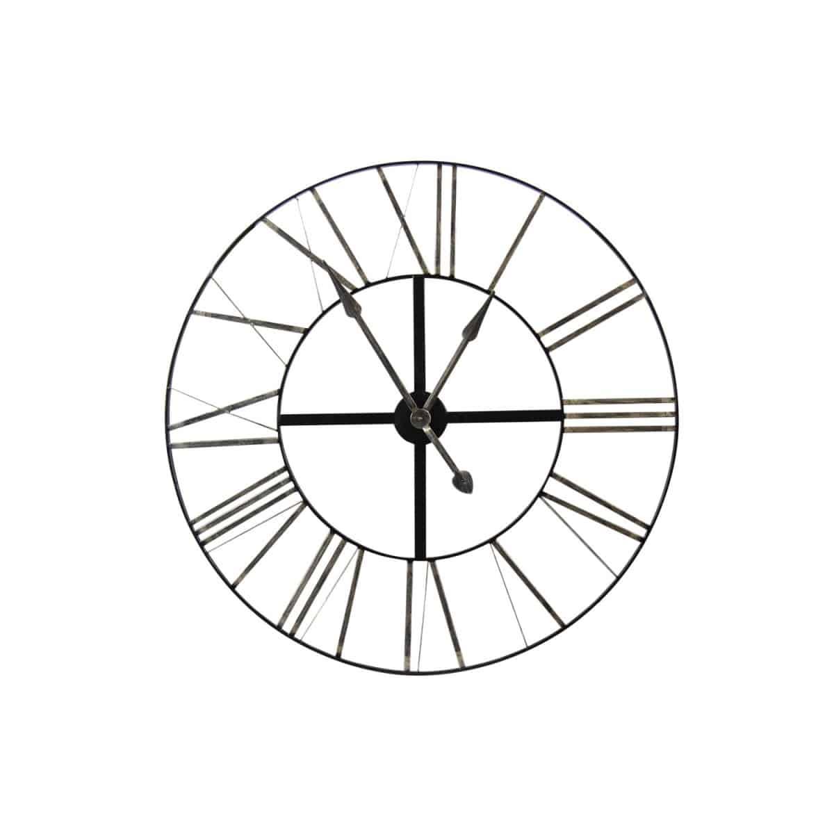 Grande Horloge Ancienne Fer Forgé 90cm