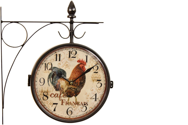 Horloge De Gare Ancienne Double Face Café Français 24cm