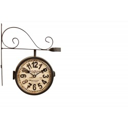 Horloge De Gare Ancienne Double Face Chef Le Normand 16cm