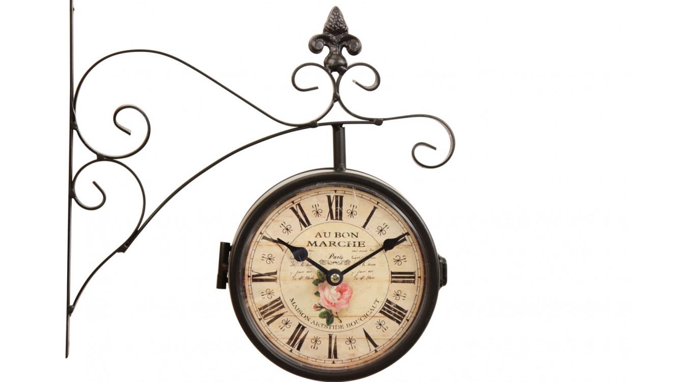 Horloge De Gare Ancienne Double Face Au Bon Marché 16cm