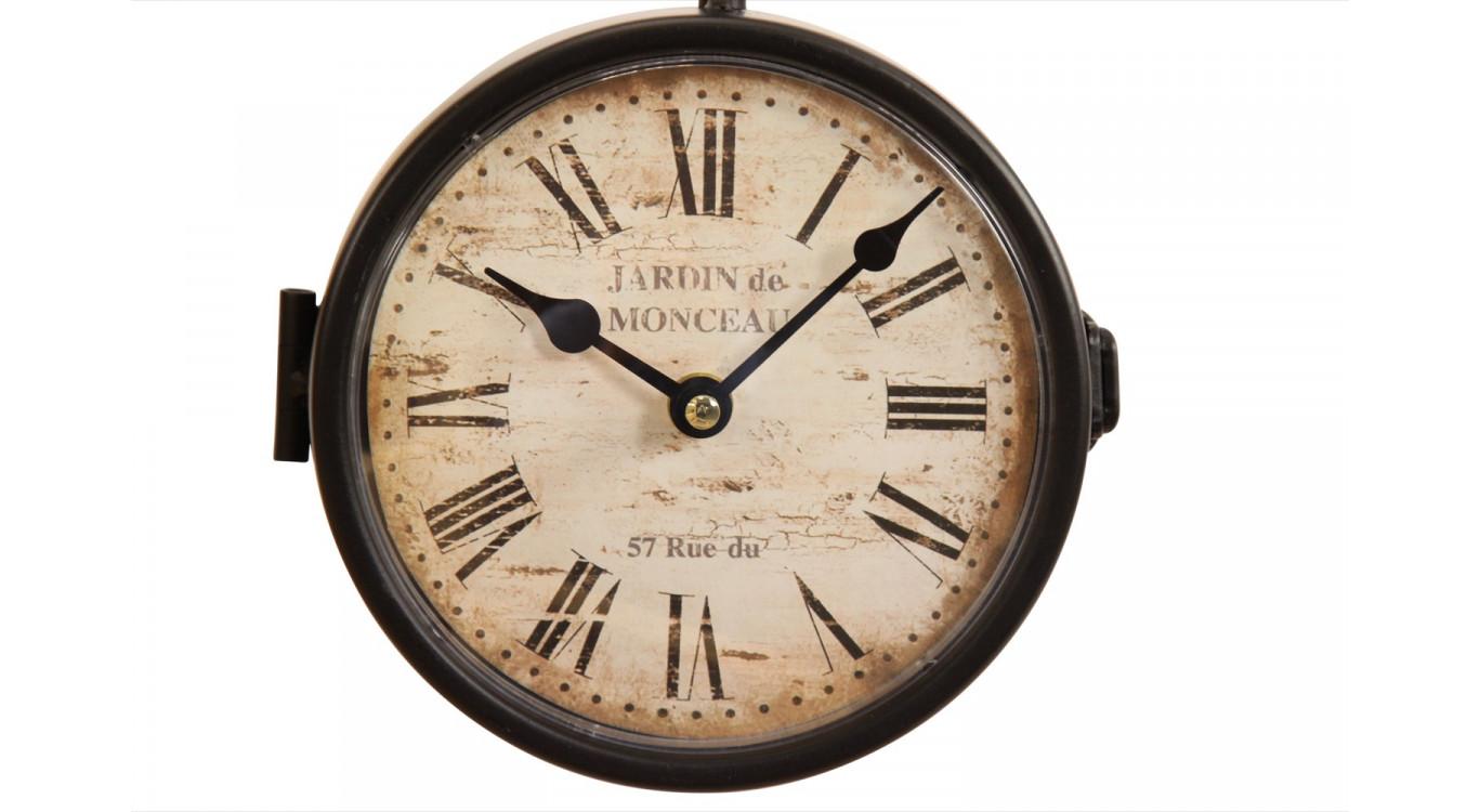 Horloge De Gare Ancienne Double Face Jardin de Monceau 16cm