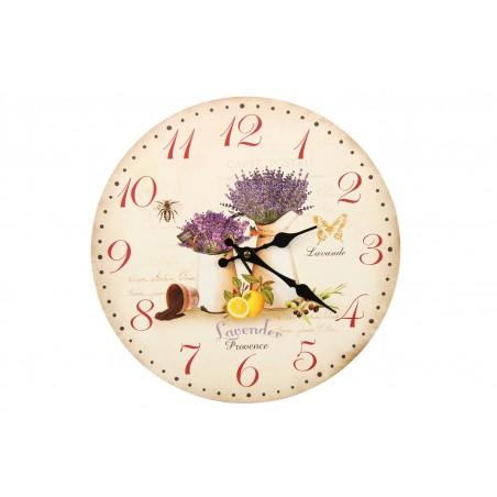 Horloge Ancienne Murale Lavande Citron 34cm
