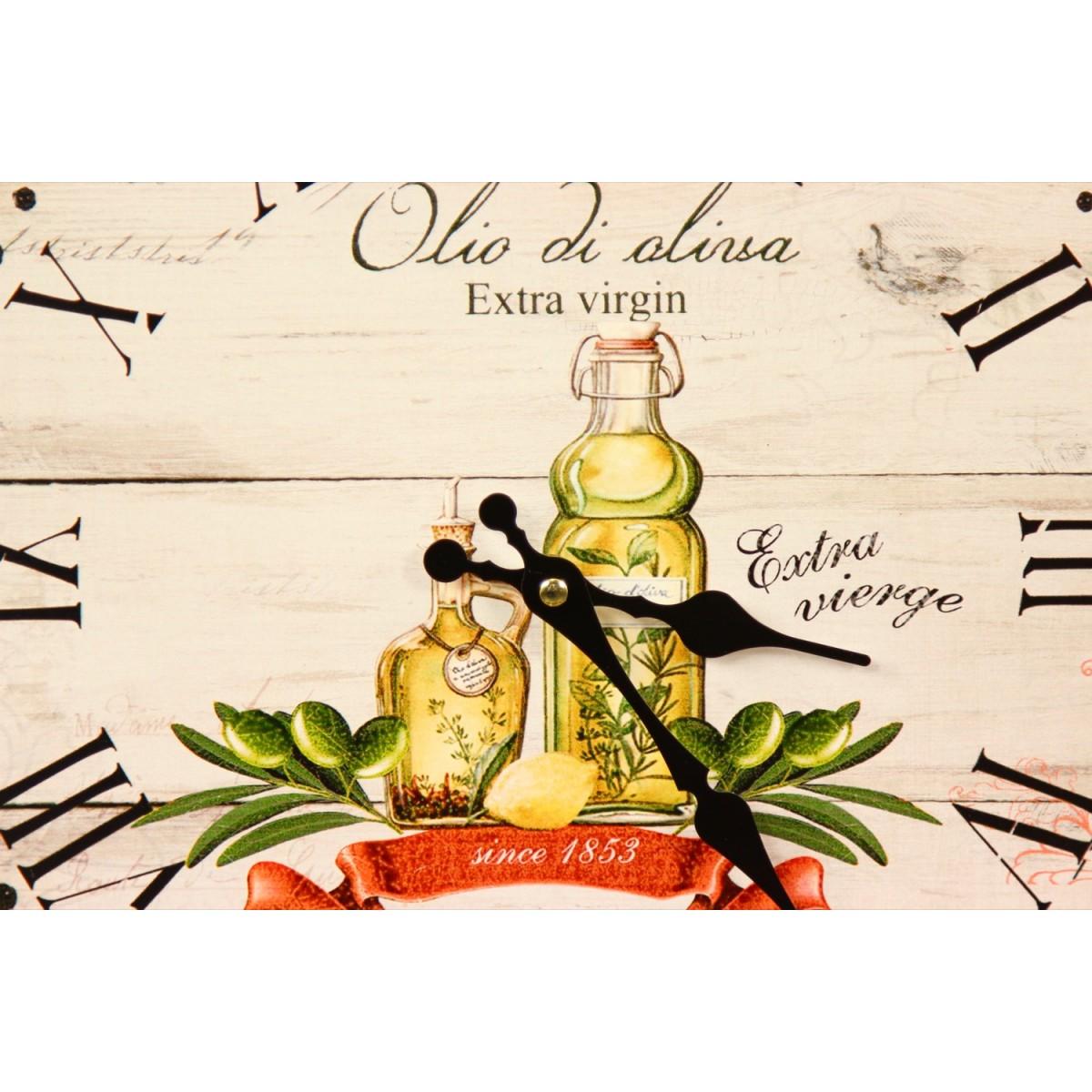 Horloge Ancienne Murale Huile d'Olive 34cm