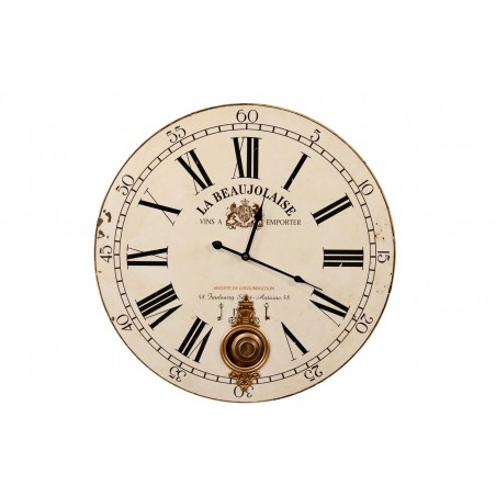 Horloge Ancienne Balancier La Beaujolaise 58cm