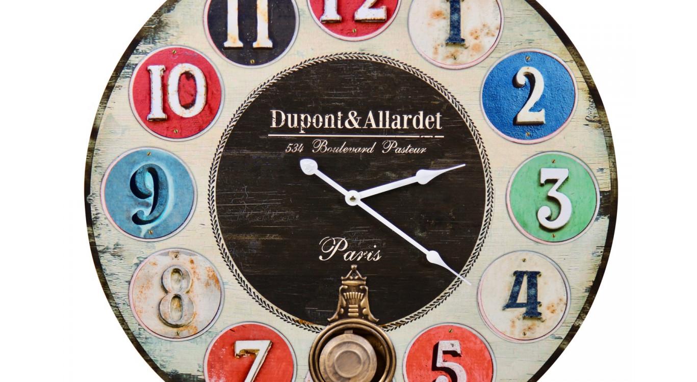 Horloge Ancienne Balancier Dupont & Allardet 58cm