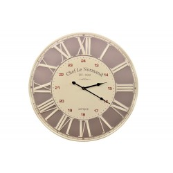 Horloge Ancienne Metal Chef Le Normand 58cm