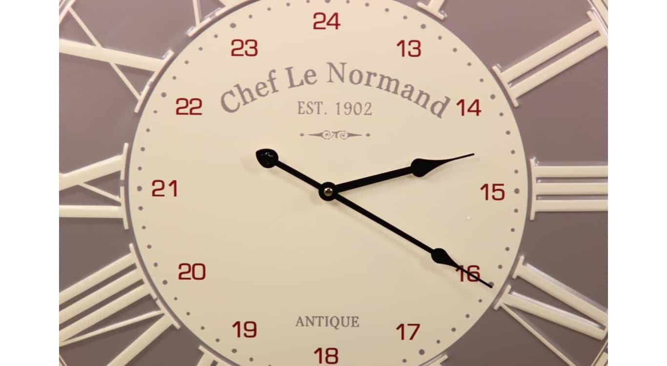 Horloge Ancienne Metal Chef Le Normand 58cm