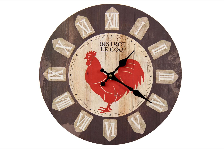 Horloge Ancienne Murale Bistrot le Coq 34cm