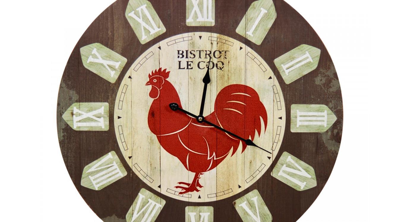 Horloge Ancienne Murale Bistrot le Coq 58cm