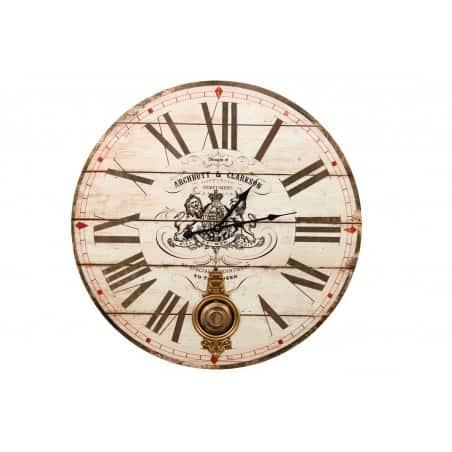 Horloge Ancienne Balancier Archbutt & Clarkson 58cm
