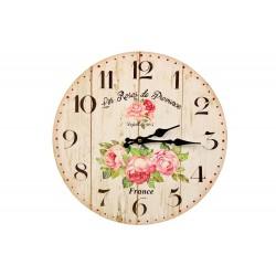 Horloge Ancienne Murale Les Roses de Provence 34cm