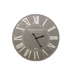 Horloge Ancienne Metal Grand Hotel 58cm