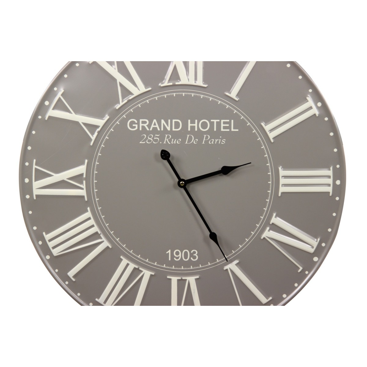 Horloge Ancienne Metal Grand Hotel 58cm