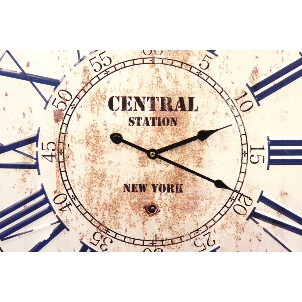 Horloge Ancienne Metal Central Station New York 58cm