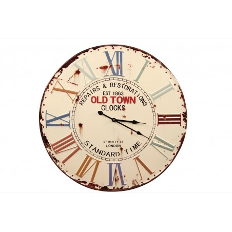 Horloge Ancienne Metal Old Town Clocks 58cm