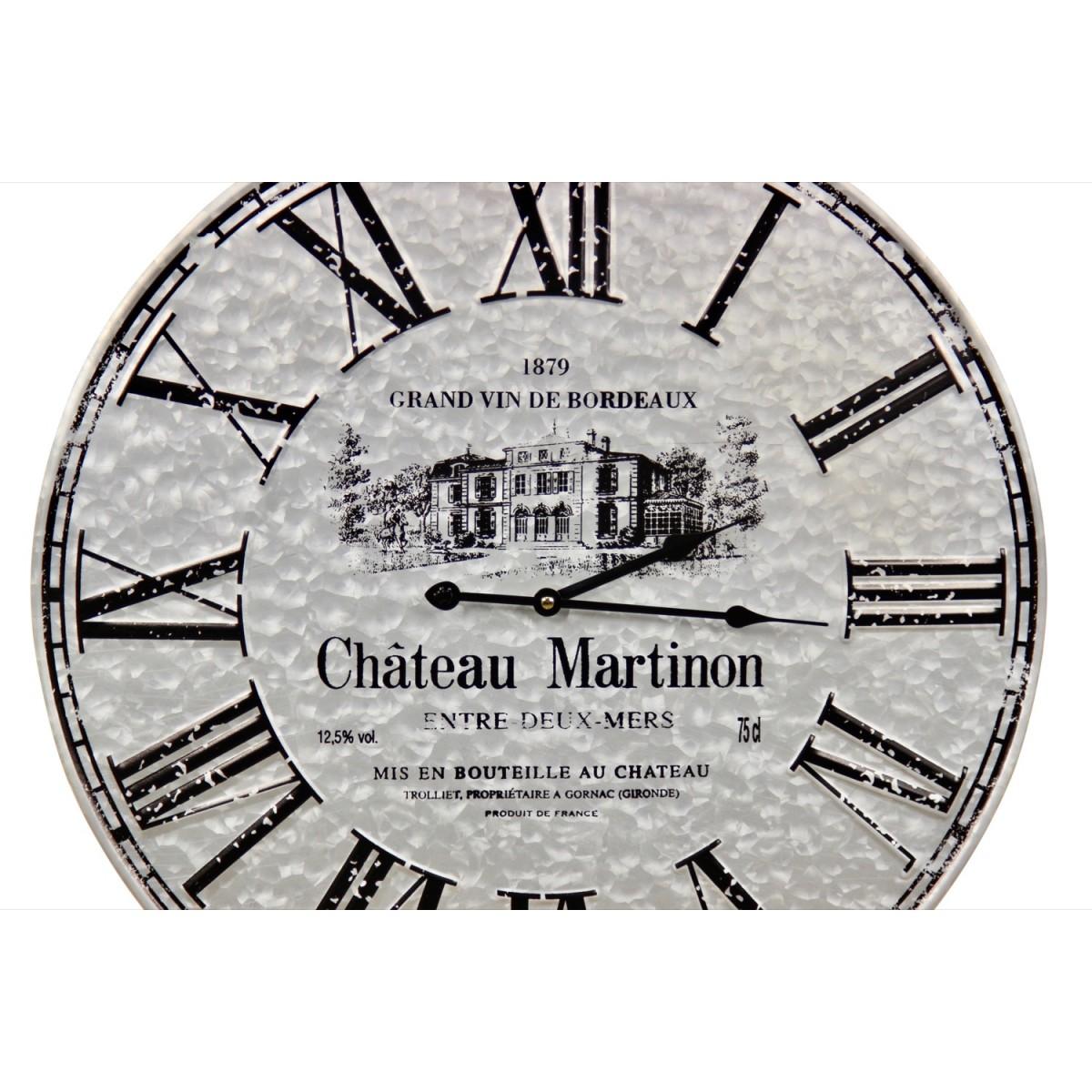 Horloge Ancienne Metal Château Martinon 58cm